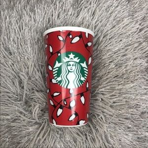Starbucks Christmas Travel Coffee Cup Mug Lights